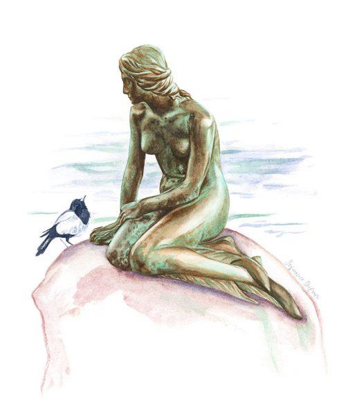 The Little Mermaid in Copenhagen (Den lille Havfrue)