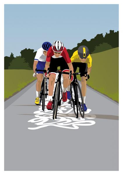 Cyclists Box Hill