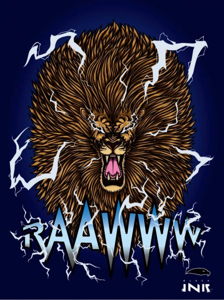 lion raaww POSTER