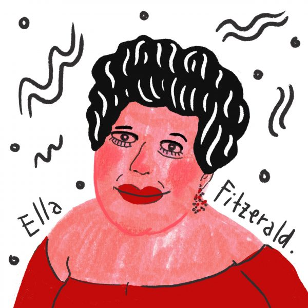 ella fitzerald portrait