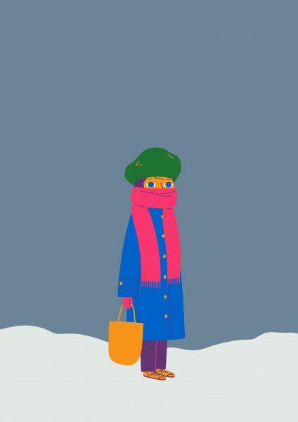 Jenny in the snow