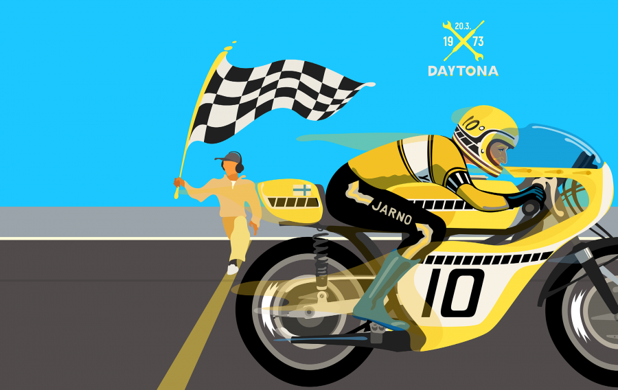 Pirita Tolvanen: The Baron - Life of Jarno Saarinen (Daytona)