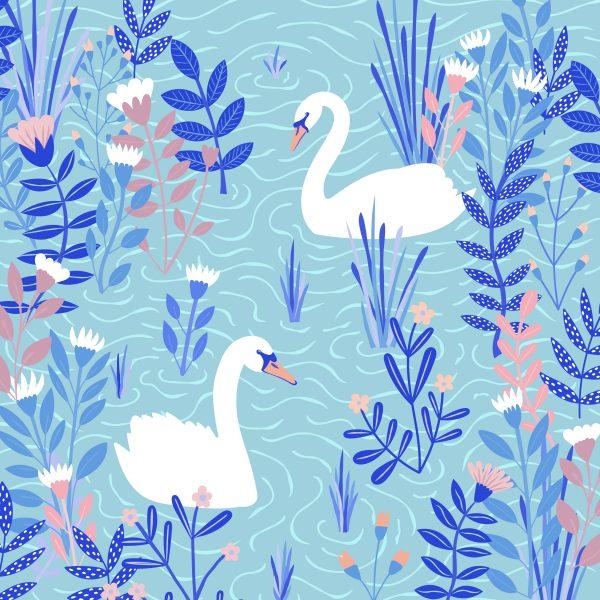 Swans vector art