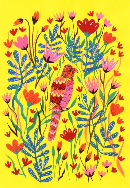 Jazzy bird Painting