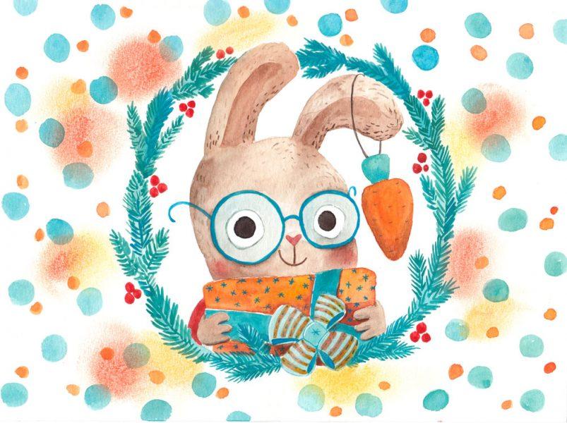 Illustration for chocolate box - Rabbit