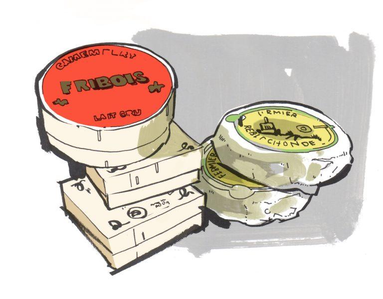 2_Cheese Food Illustrations