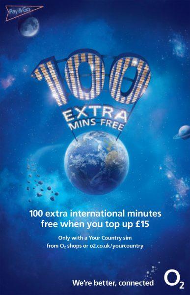 O2 100 Mins Free