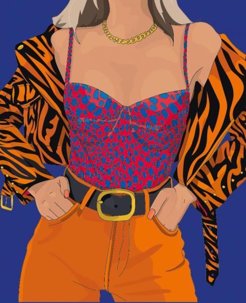 Animal Print Fashion Illustration