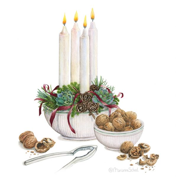 Danish advent decor
