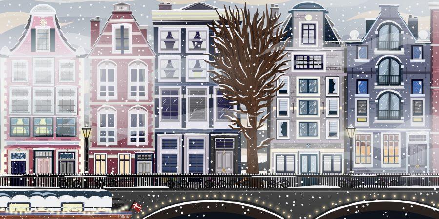 Snowy Amsterdam