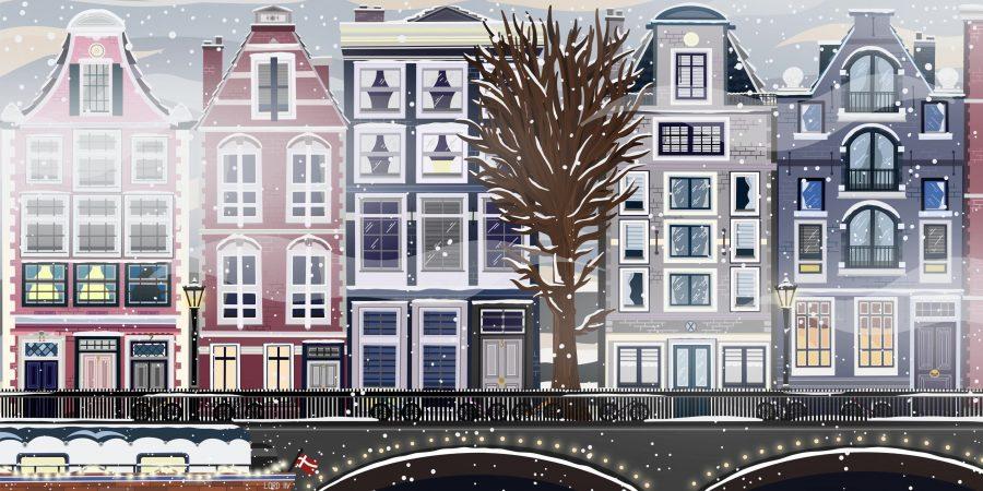 Snowy Amsterdam, GIF