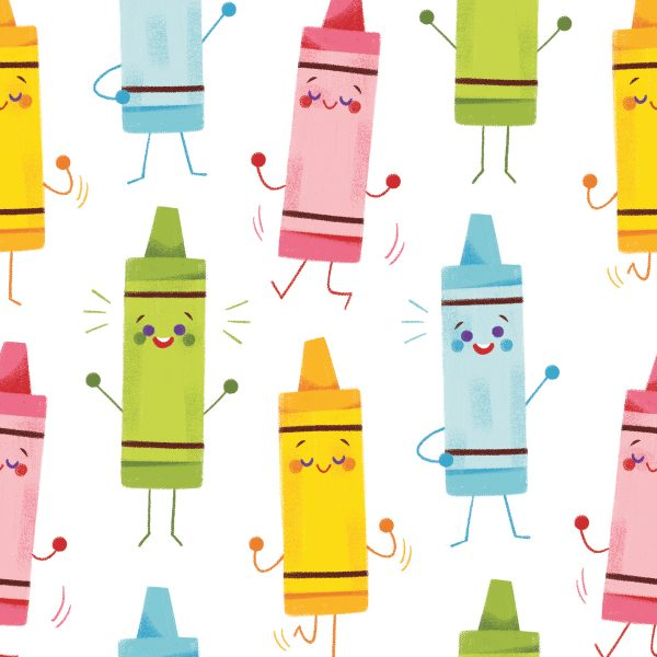 Dancing Crayons Pattern