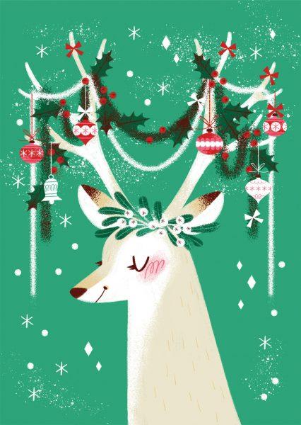 Festive Antlers Greeting Card