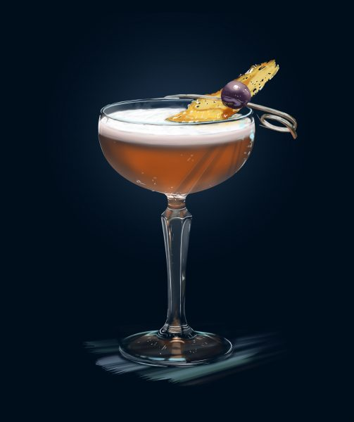 Client: Bacardi - Cocktail illustrations (book)