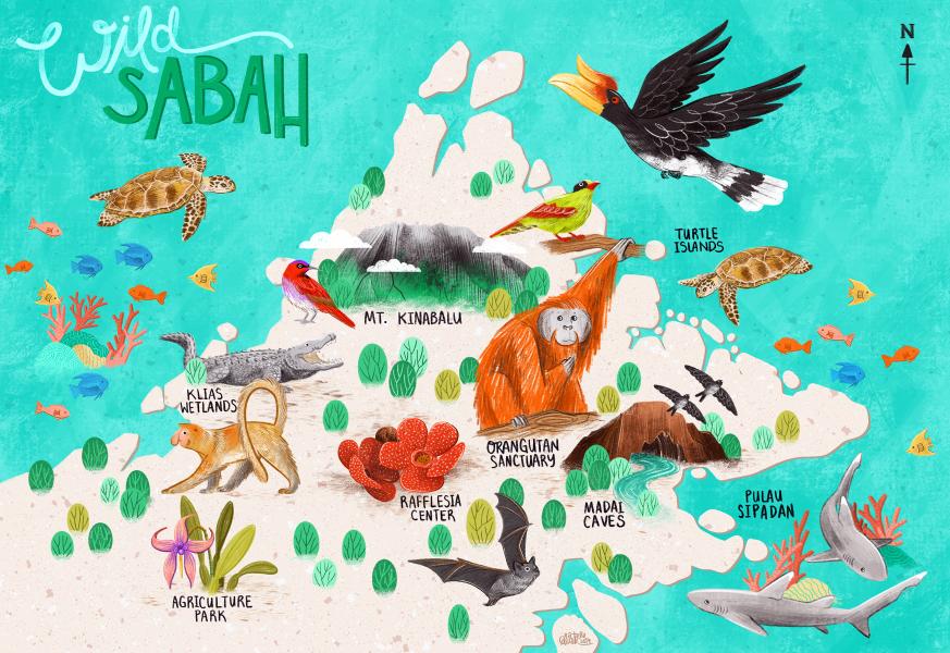 Map of Sabah