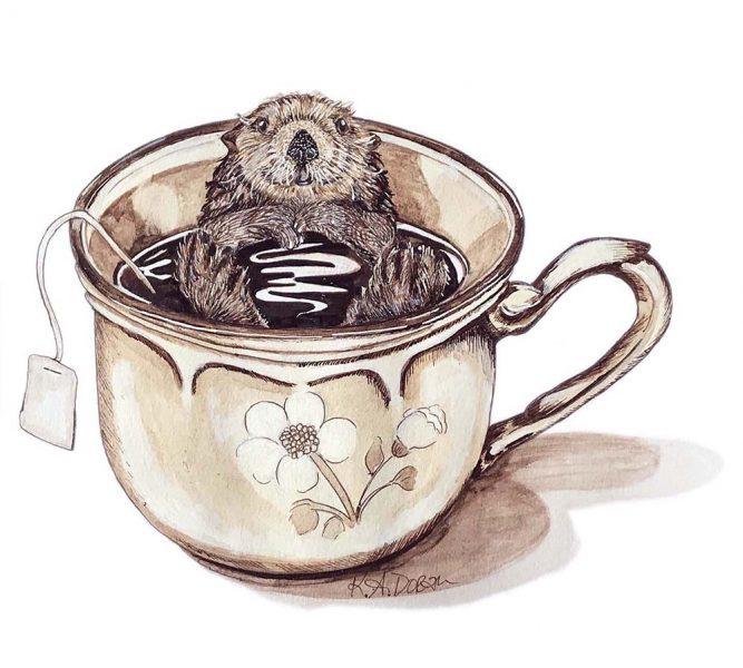 Mini Otter Big Tea Cup