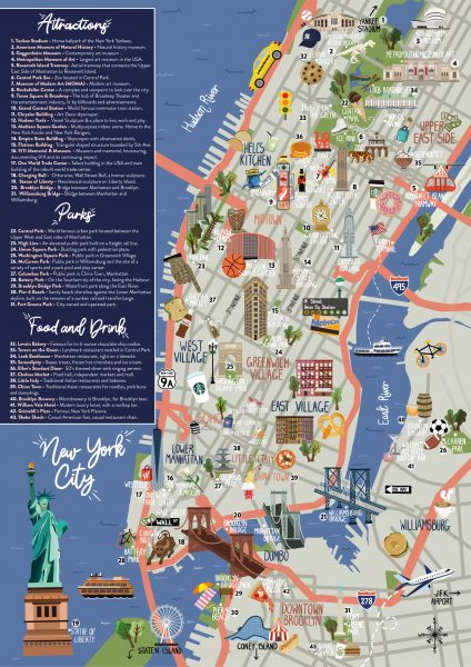 New York-  Tavel Map and Guide