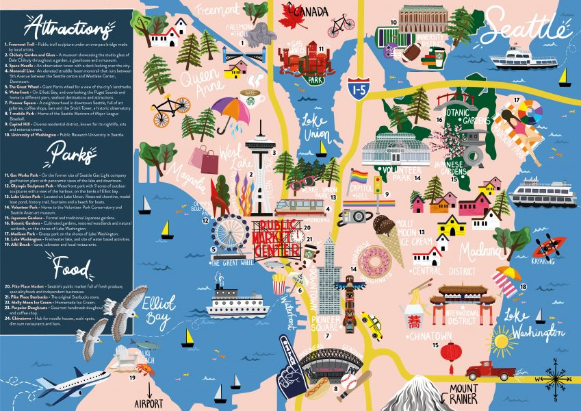 Seattle Travel Map
