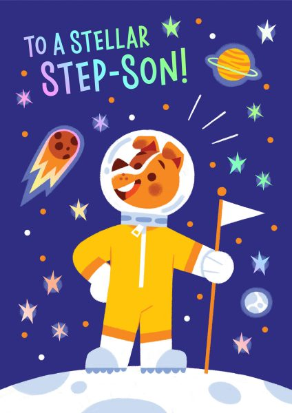 Stellar Step-son Greeting Card