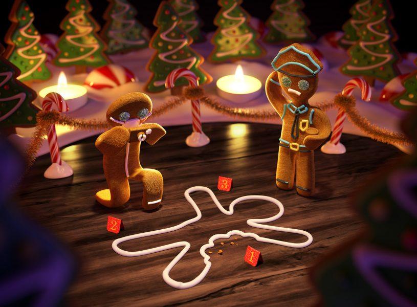 Christmas Crime Scene