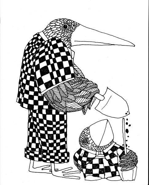 birds and shovels