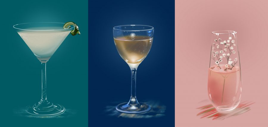 Client: Bacardi - Cocktail illustrations (advertising)