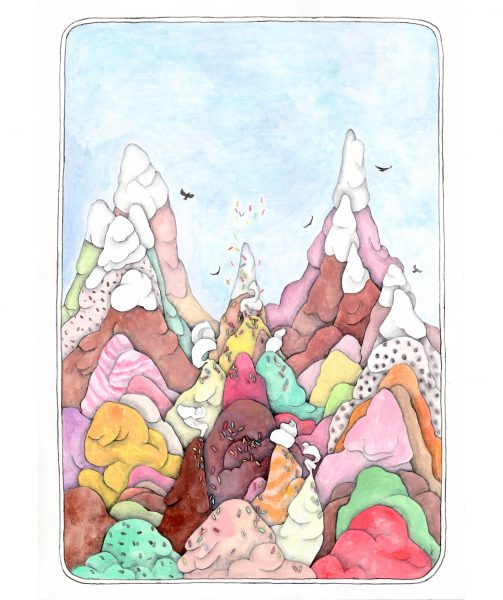 ice cream mountains