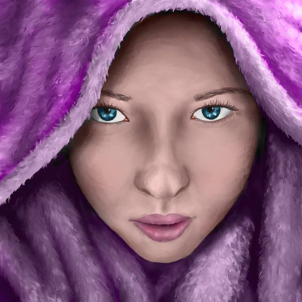 Purple portrait