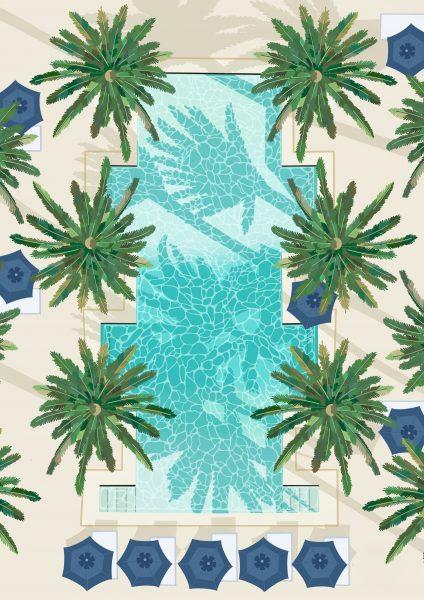 Palm Poolside