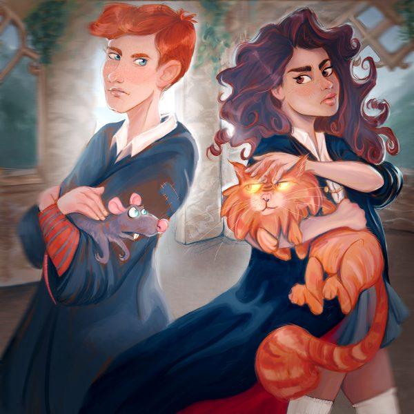Ron & Hermione Fanart