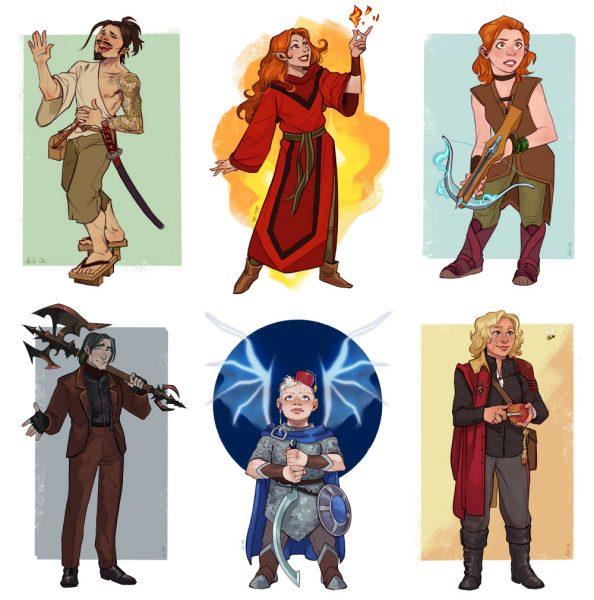D&D character commissions