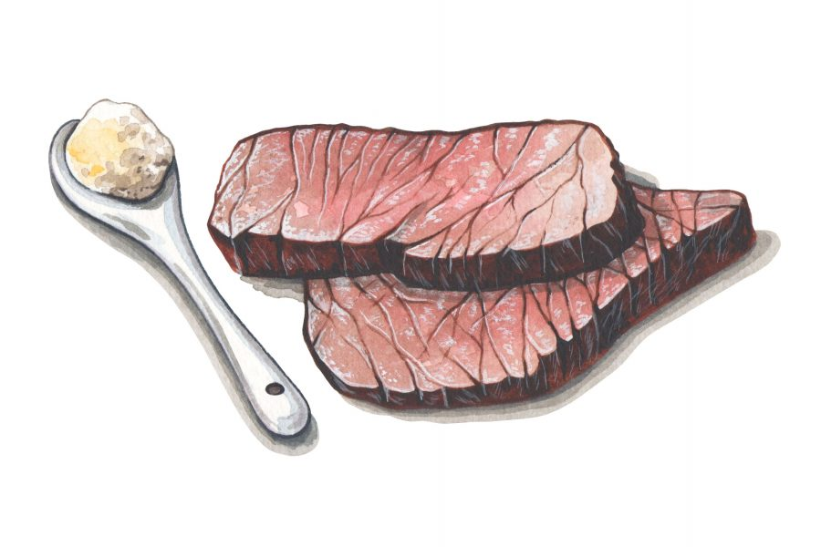 Beef illustration illustration for Style of Wight magazine