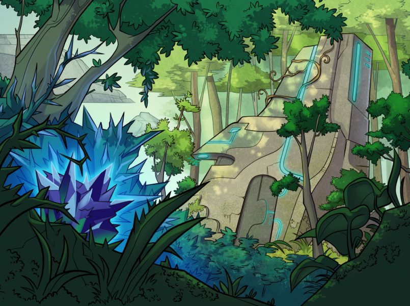 Crystal Heart RPG chapter header: Intro