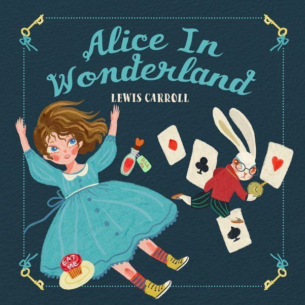 Alice in wonderland, book cover