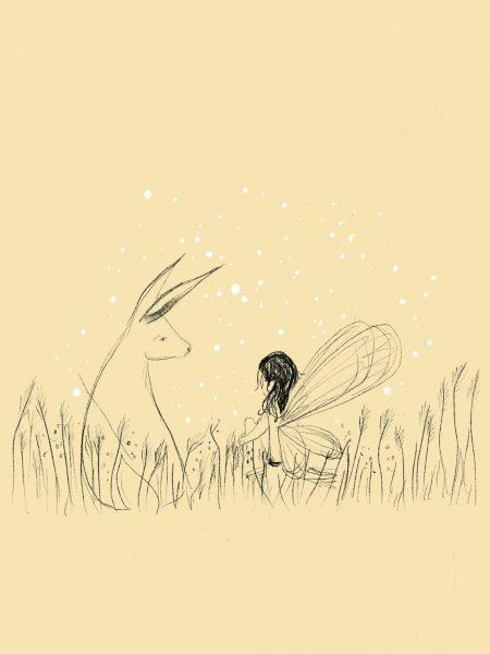 Fairy_And_Hare_Sarah Lovell Art 72 dpi