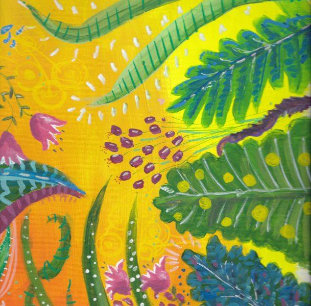 Flowers yellow coaster
