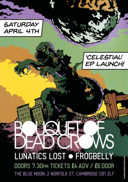 Bouquet of Dead Crows EP launch poster