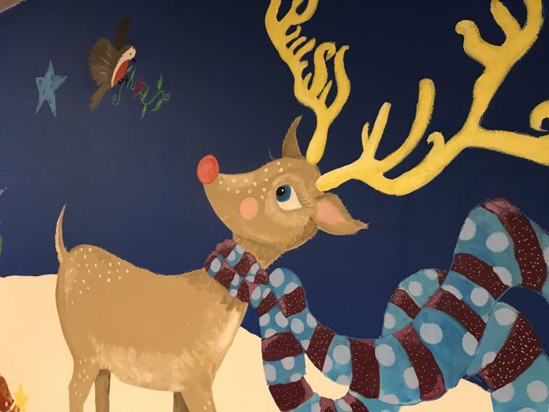 Reindeer mural