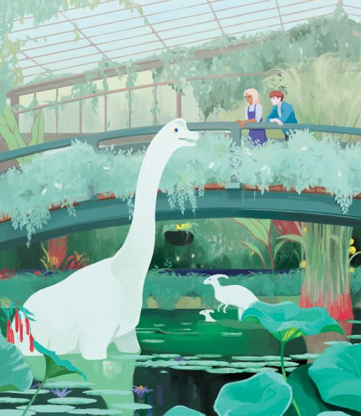 Kew Garden With Dinosaurs