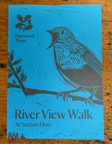 National Trust's Sutton Hoo river walk leaflet