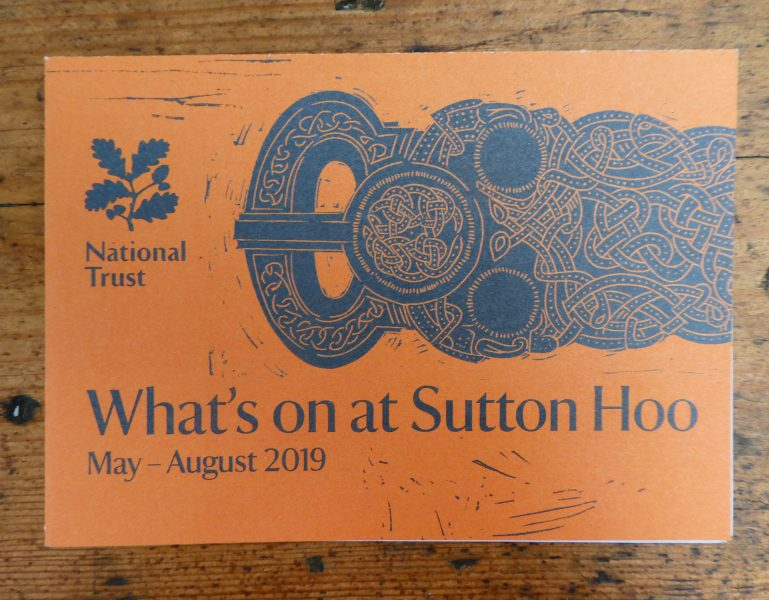National Trust's Sutton Hoo what's on leaflet