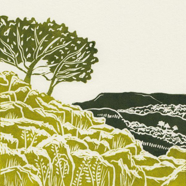Yorkshire Dales linocut print