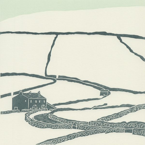 Keld, Yorkshire Dales linocut print
