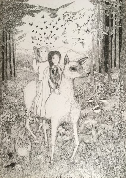The Wild Folk Illustration - Inktober 2018 cropped