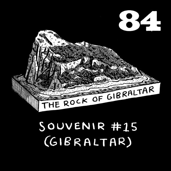 Rock of Gibraltar spot illustration