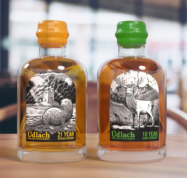 Whiskey bottle labels