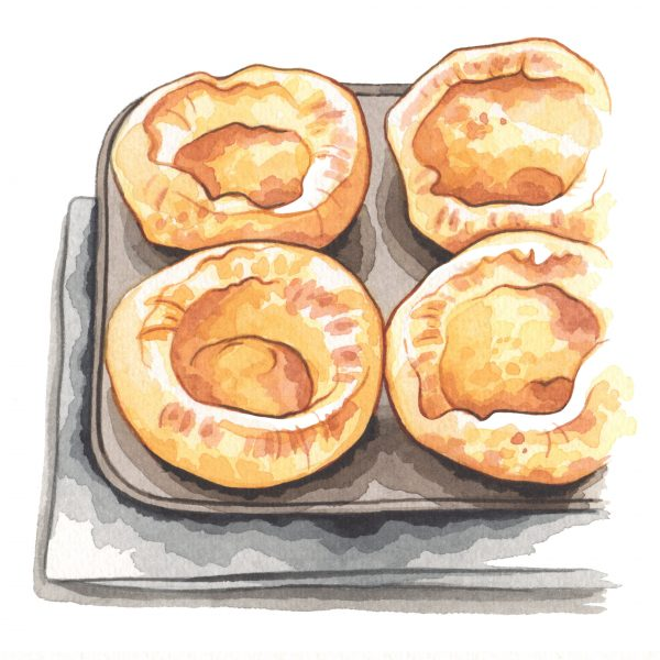 Yorkshire puddings illustration for Style of Wight magazine