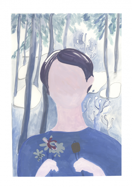 Portrait at Fontainebleau