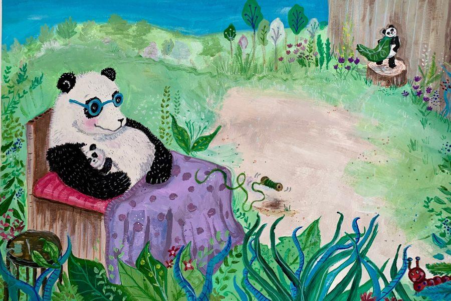 Mummy panda