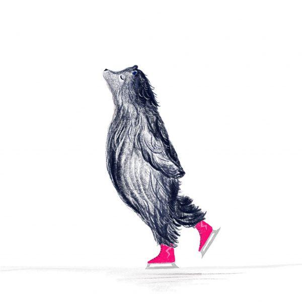 Skating Bear